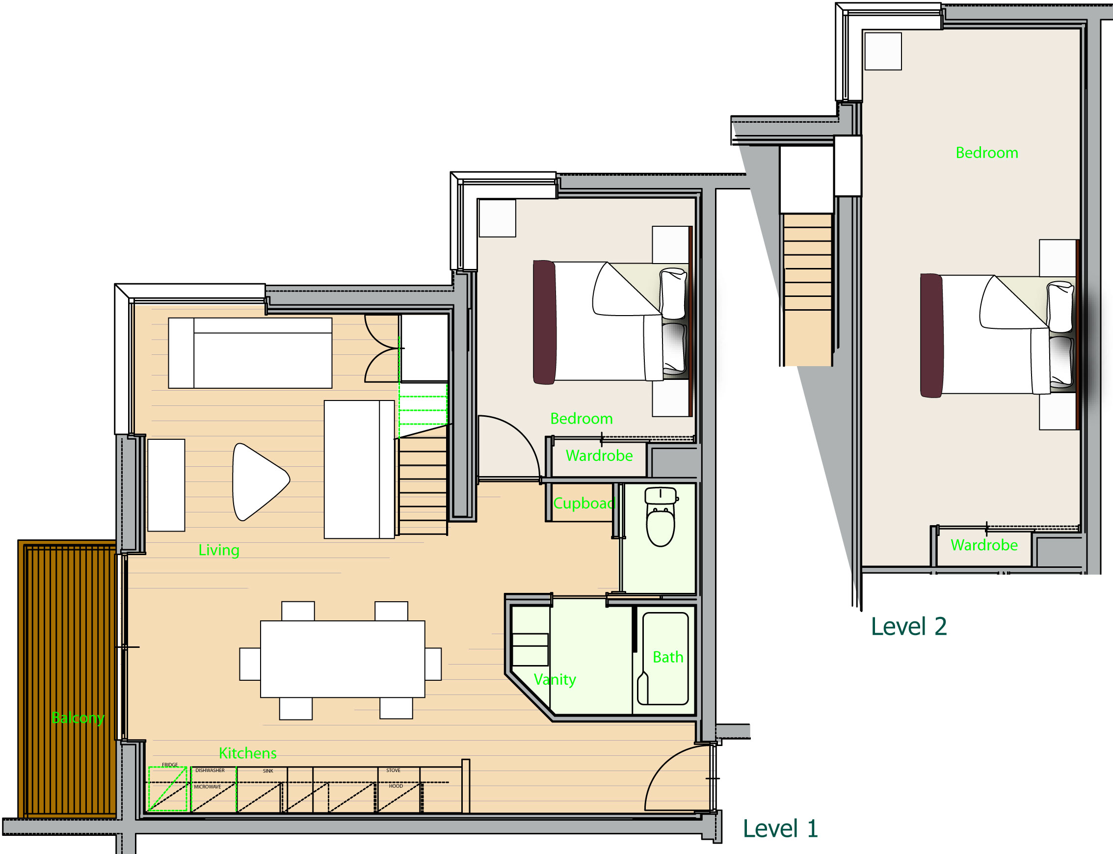 Deep tracks 8 deep tracks luxury ski accommodation in for Japanese apartment plans